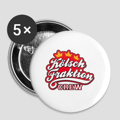 KölschFraktion CREW - Buttons groß 56 mm (5er Pack)