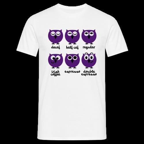 Kaffee - Eulen - Männer T-Shirt