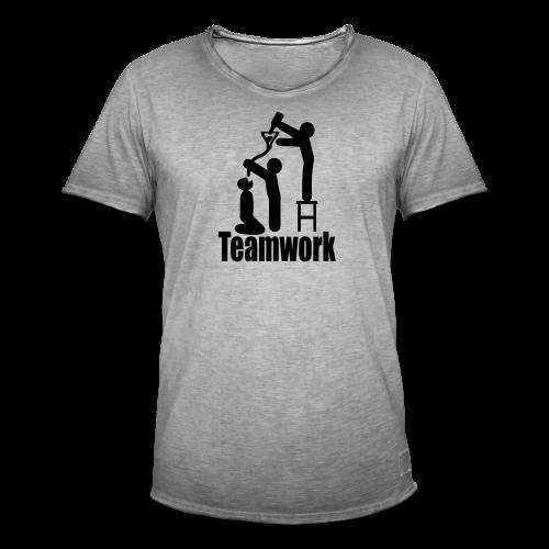 Teamwork - Männer Vintage T-Shirt