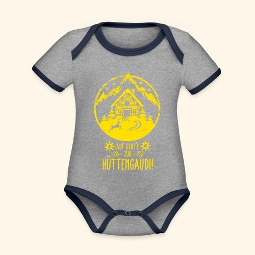 Auf geht's zur Hüttengaudi! - Baby Bio-Kurzarm-Kontrastbody