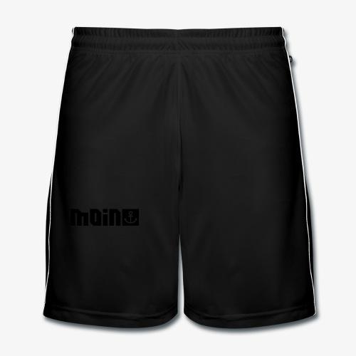 MOIN sagt man in HAMBURG Anker Männer Shirt schwarz, rot, blau - Männer Fußball-Shorts