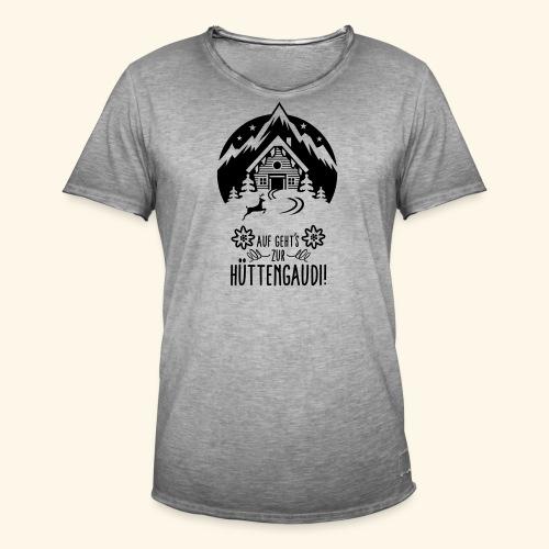 Auf geht's zur Hüttengaudi! - Männer Vintage T-Shirt