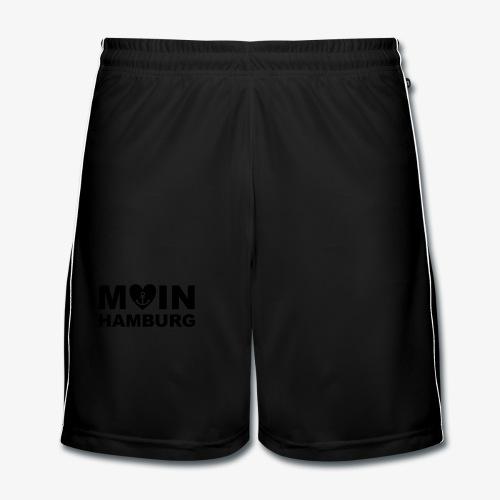 MOIN sagt man in HAMBURG Anker Frauen Shirt schwarz, rot, blau - Männer Fußball-Shorts