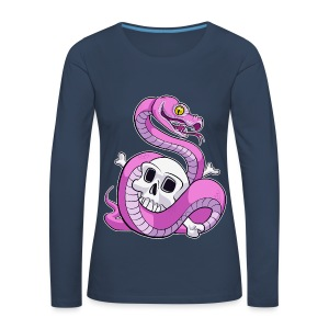 Pink Python (No Text) - Naisten premium pitkähihainen t-paita