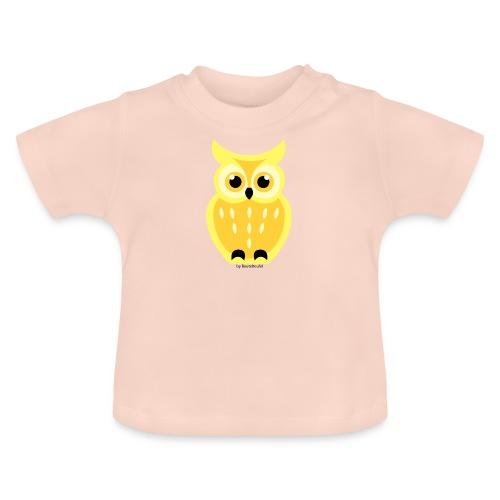 gelbe Eule - Baby T-Shirt