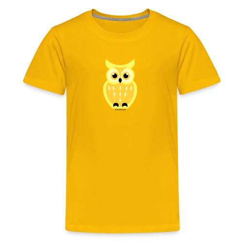 gelbe Eule - Teenager Premium T-Shirt
