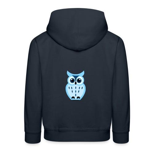 blaue Eule - Kinder Premium Hoodie