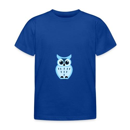 blaue Eule - Kinder T-Shirt