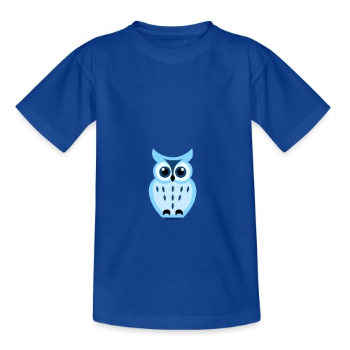 blaue Eule - Teenager T-Shirt