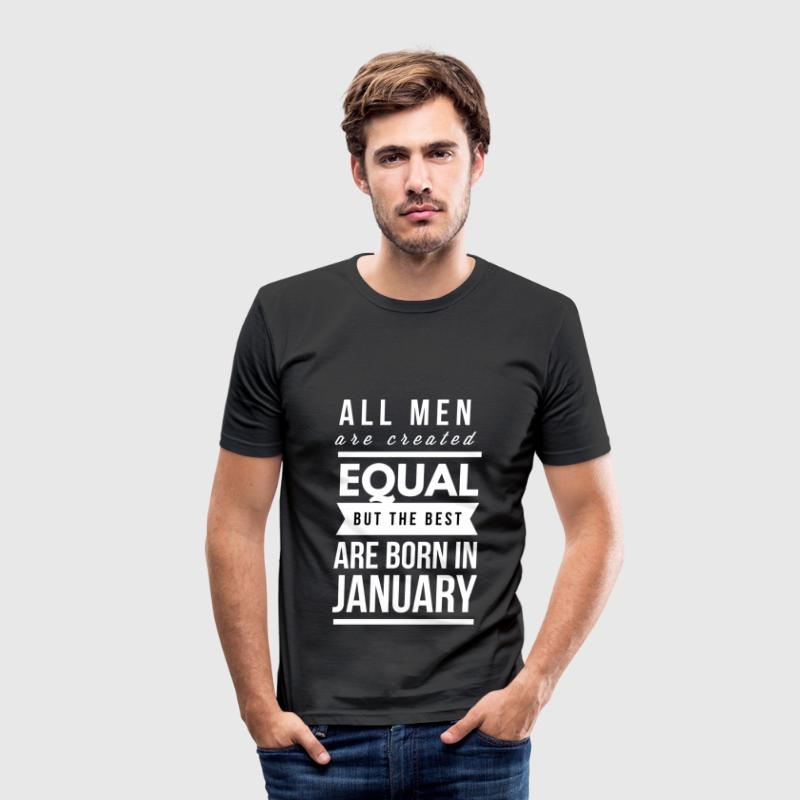 January birthday design for men and boys T-Shirts - Men's Slim Fit T-Shirt