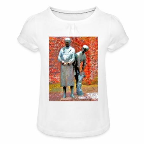T-Shirt Uhlenköper - Mädchen-T-Shirt mit Raffungen