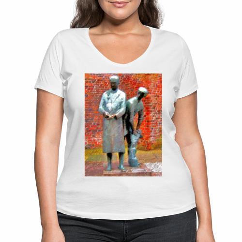 T-Shirt Uhlenköper - Frauen Bio-T-Shirt mit V-Ausschnitt von Stanley & Stella