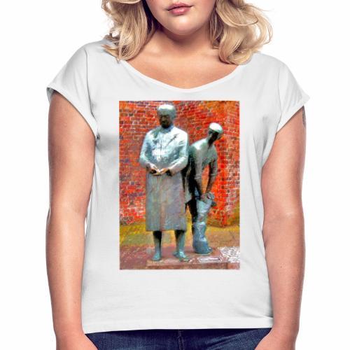 T-Shirt Uhlenköper - Frauen T-Shirt mit gerollten Ärmeln