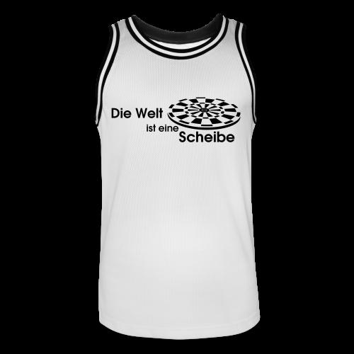 Die Welt ist eine Scheibe Shirt - Männer Basketball-Trikot