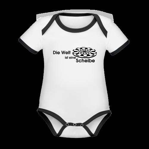 Die Welt ist eine Scheibe Shirt - Baby Bio-Kurzarm-Kontrastbody