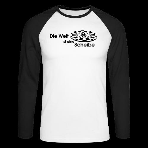 Die Welt ist eine Scheibe Shirt - Männer Baseballshirt langarm