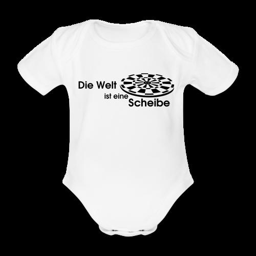 Die Welt ist eine Scheibe Shirt - Baby Bio-Kurzarm-Body