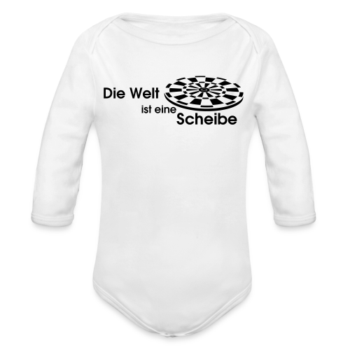 Die Welt ist eine Scheibe Shirt - Baby Bio-Langarm-Body