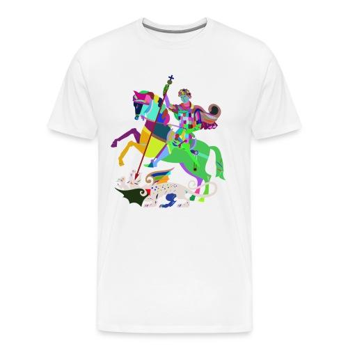 Reiter Mosaik - Männer Premium T-Shirt