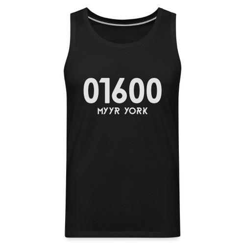 01600 MYYR YORK - Miesten premium hihaton paita
