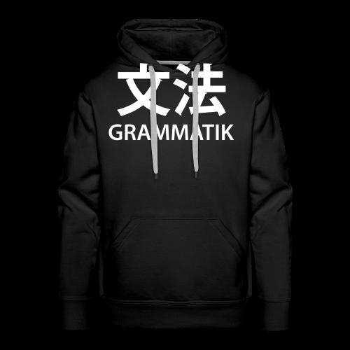Grammatik/Japansk - T-shirt (unisex) - Herre Premium hættetrøje
