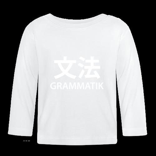 Grammatik/Japansk - T-shirt (unisex) - Langærmet babyshirt
