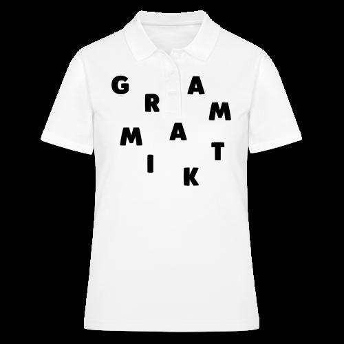 Grammatik - T-shirt (unisex) - Women's Polo Shirt