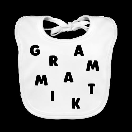 Grammatik - T-shirt (unisex) - Baby økologisk hagesmæk