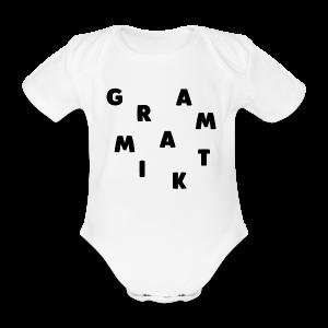 Grammatik - T-shirt (unisex) - Kortærmet babybody, økologisk bomuld