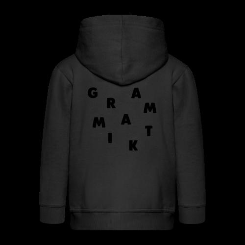 Grammatik - T-shirt (unisex) - Premium hættejakke til børn