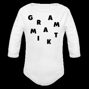 Grammatik - T-shirt (unisex) - Langærmet babybody, økologisk bomuld