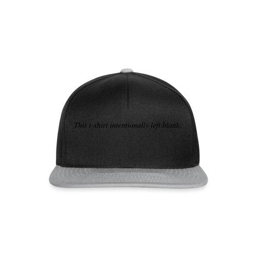 Blank T-Shirt - Snapback Cap