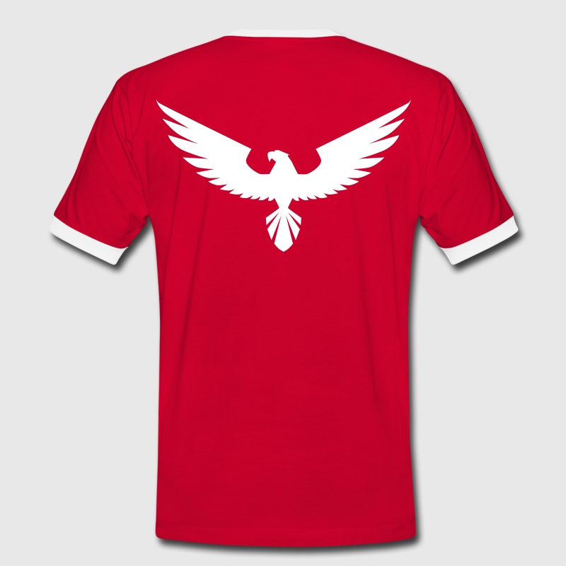 Hawk,  Adler,  Greifvogel,  Wings,  Power,  Kraft, - Männer Kontrast-T-Shirt