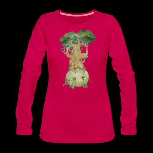 Baobab su elefante - Women's Premium Longsleeve Shirt