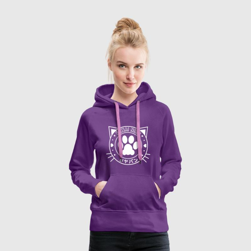 kawai neko Sweat-shirts - Sweat-shirt à capuche Premium pour femmes