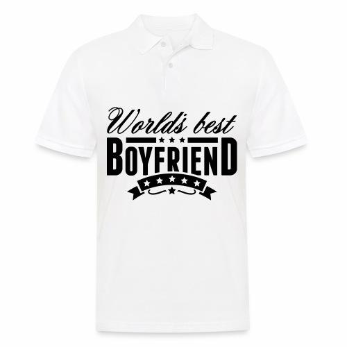 Herren Langarmshirt Worlds Best Boyfriend - Männer Poloshirt