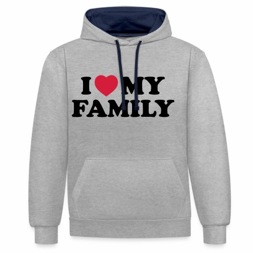 Shopper I Love my Family - Kontrast-Hoodie