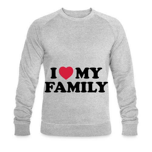 Shopper I Love my Family - Männer Bio-Sweatshirt von Stanley & Stella
