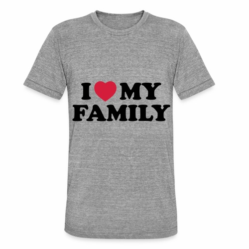 Shopper I Love my Family - Unisex Tri-Blend T-Shirt von Bella + Canvas