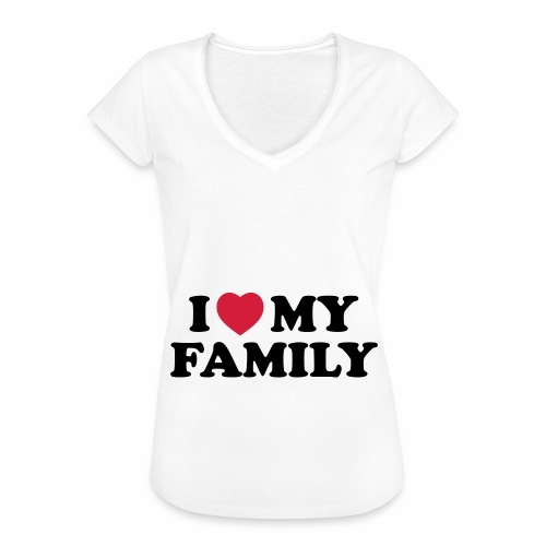 Shopper I Love my Family - Frauen Vintage T-Shirt