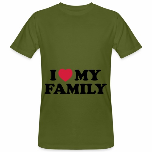 Shopper I Love my Family - Männer Bio-T-Shirt