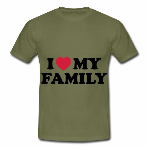 Shopper I Love my Family - Männer T-Shirt