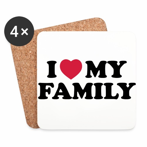Shopper I Love my Family - Untersetzer (4er-Set)