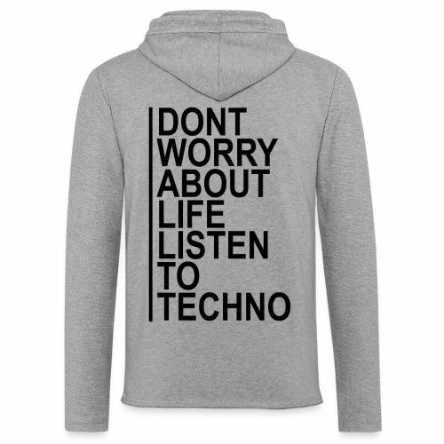 Techno - Leichtes Kapuzensweatshirt Unisex