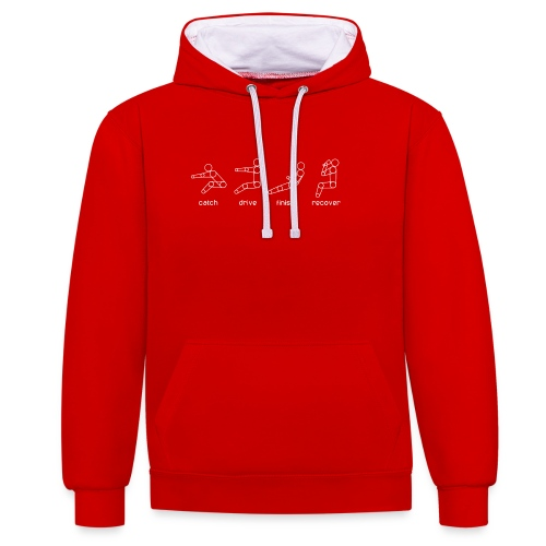 Catch, drive, finish, recover - Contrast Colour Hoodie
