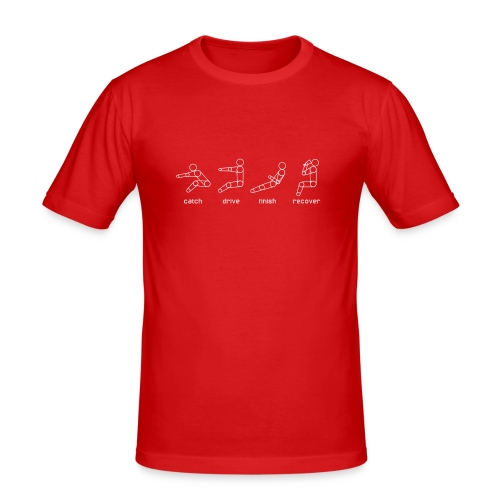 Catch, drive, finish, recover - Men's Slim Fit T-Shirt