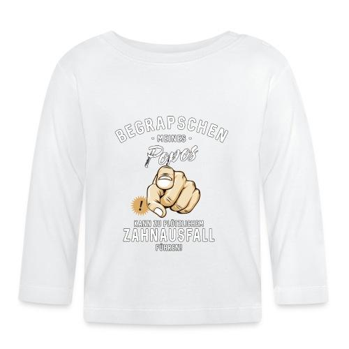 Begrapschen meines Popos - Zahnausfall - RAHMENLOS - Baby Langarmshirt