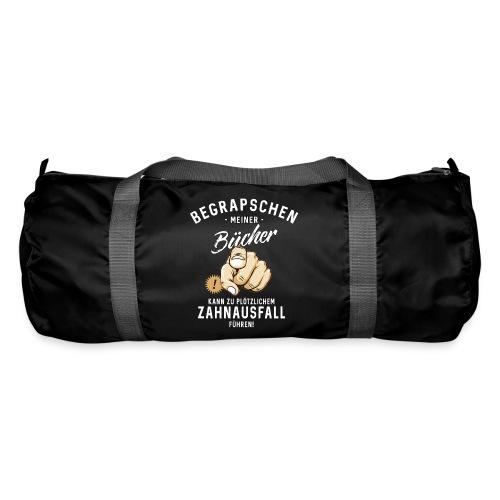 Begrapschen meiner Bücher - Zahnausfall - RAHMENLOS - Sporttasche