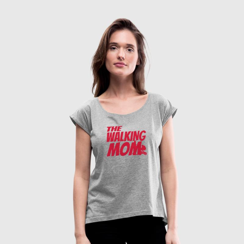 THE WALKING MOM Tee shirts - T-shirt Femme à manches retroussées