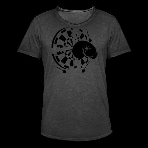 Dartscheibe Boxen Shirt - Männer Vintage T-Shirt